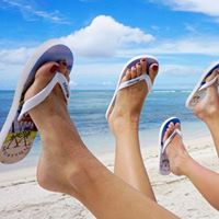 Image may contain: one or more people, shoes, sky, cloud, ocean, beach, outdoor, nature and water