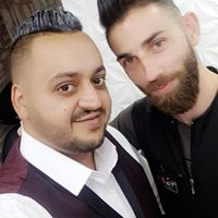 Image may contain: 2 people, people smiling, selfie, beard and closeup